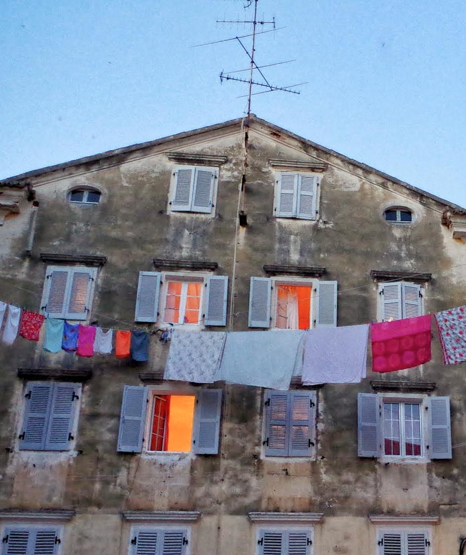 Wäscheleinen Altstadt Korfu