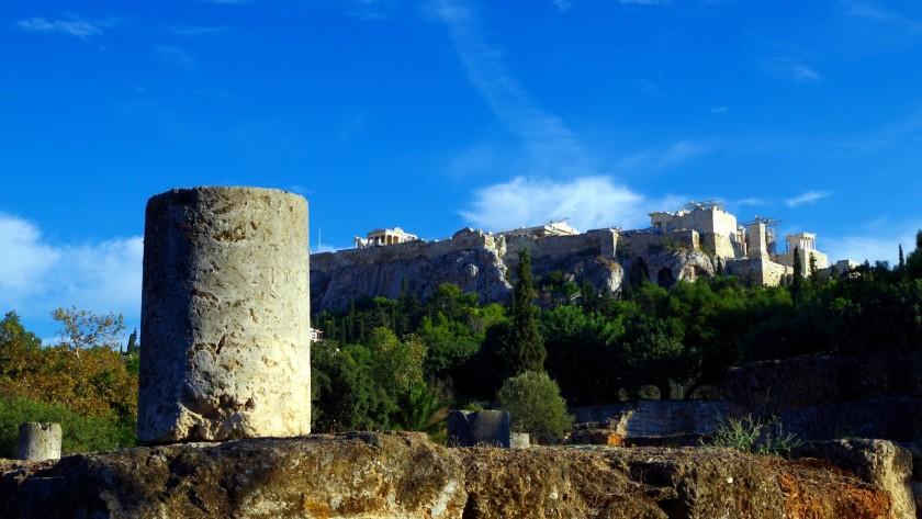 Blick von der Athener Agora