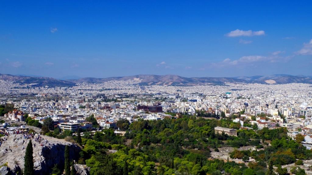 Blick auf Tempel des Hephaistos