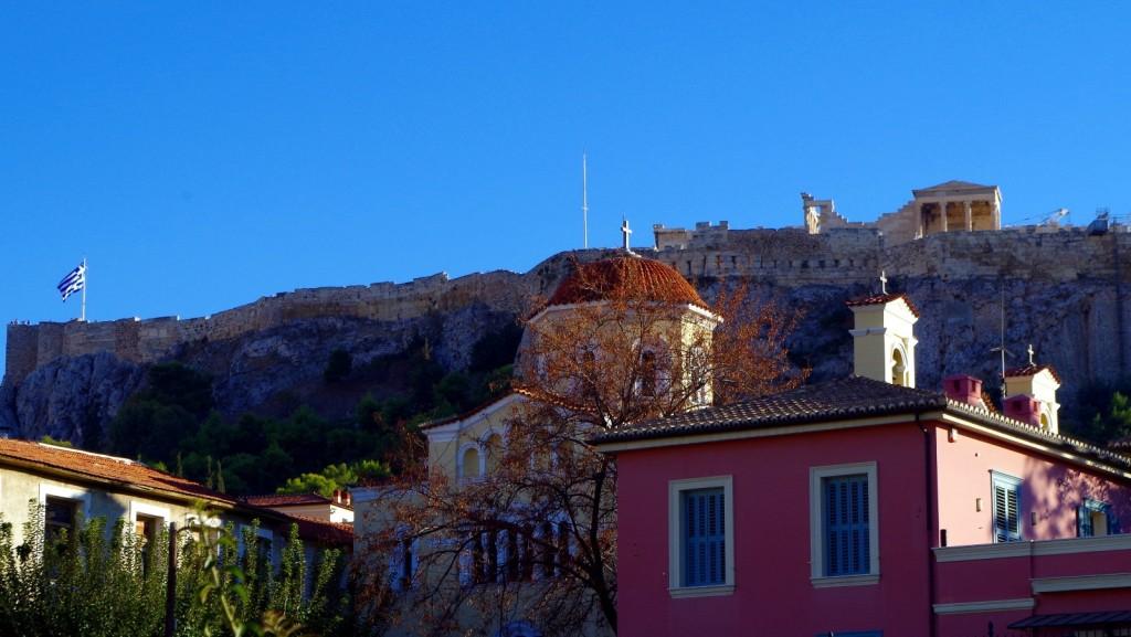Blick von Monastiraki zum Parthenon