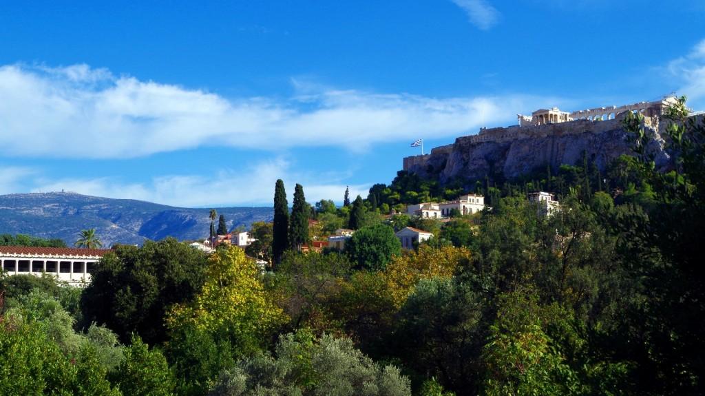 Blick von der Agora (Athen)