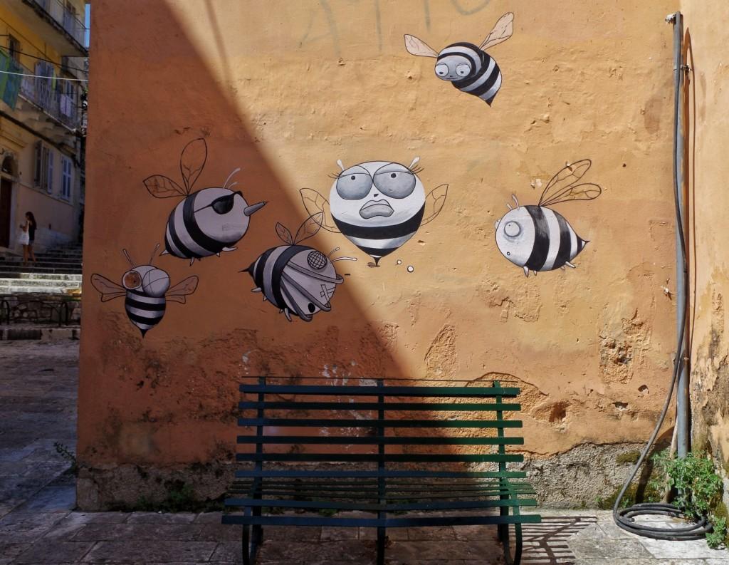 Streetart in Korfu Stadt