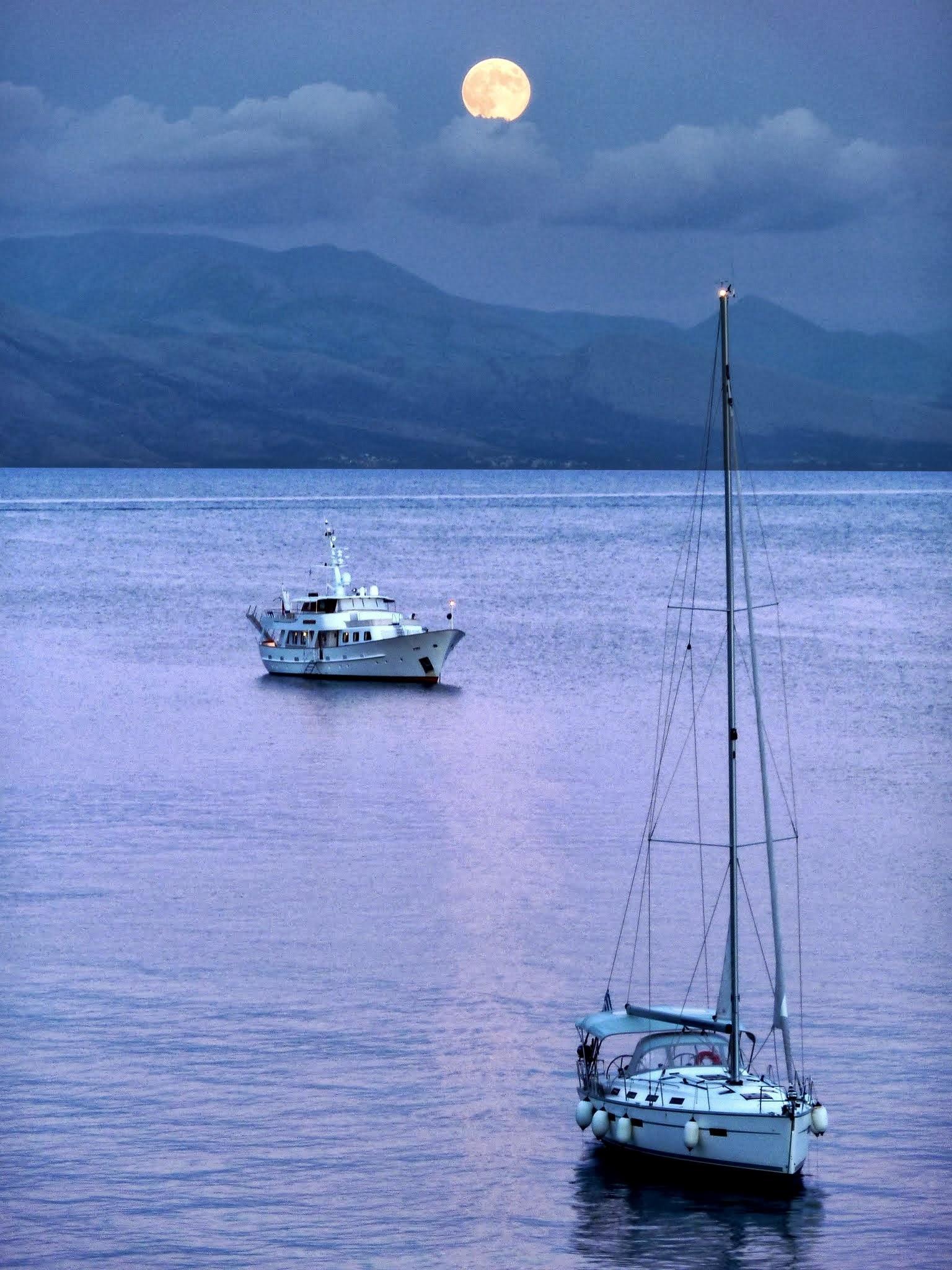 Vollmond auf Korfu