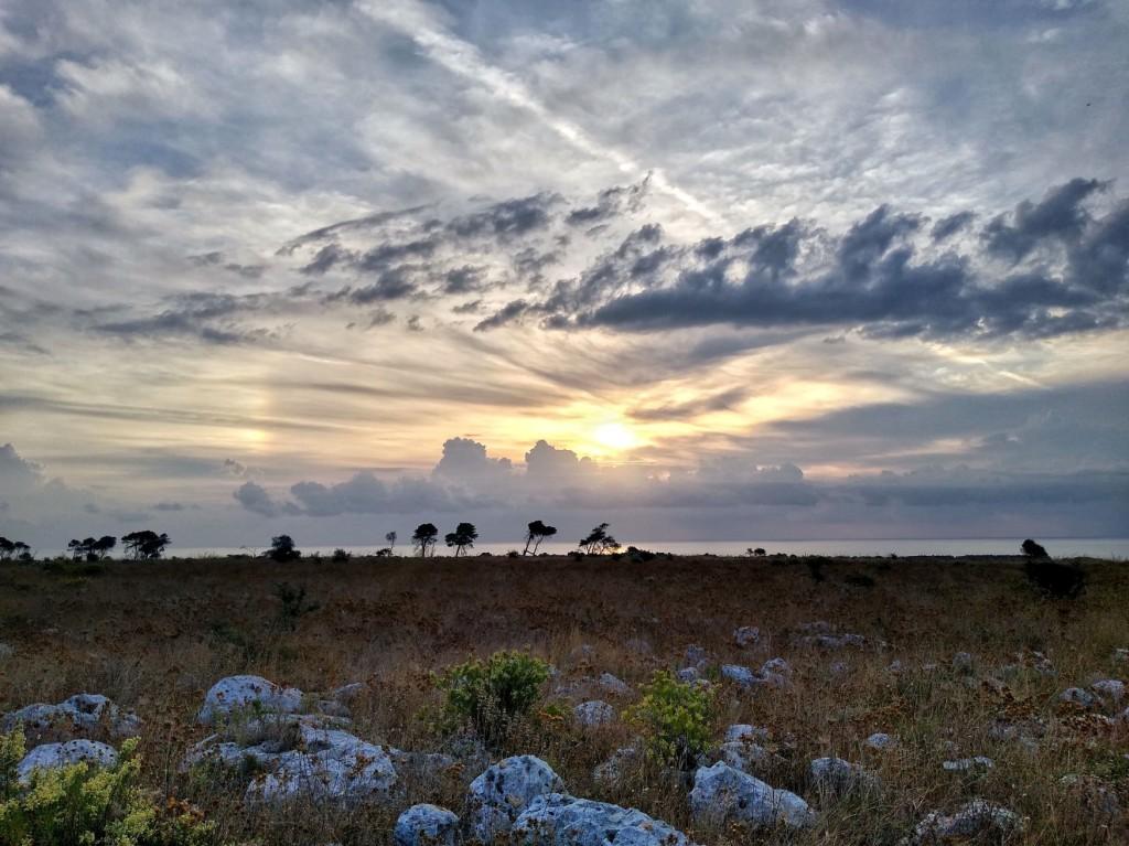 Sonnenaufgang an der Küste Santa Cesarea Terme - Otranto (Apulien)