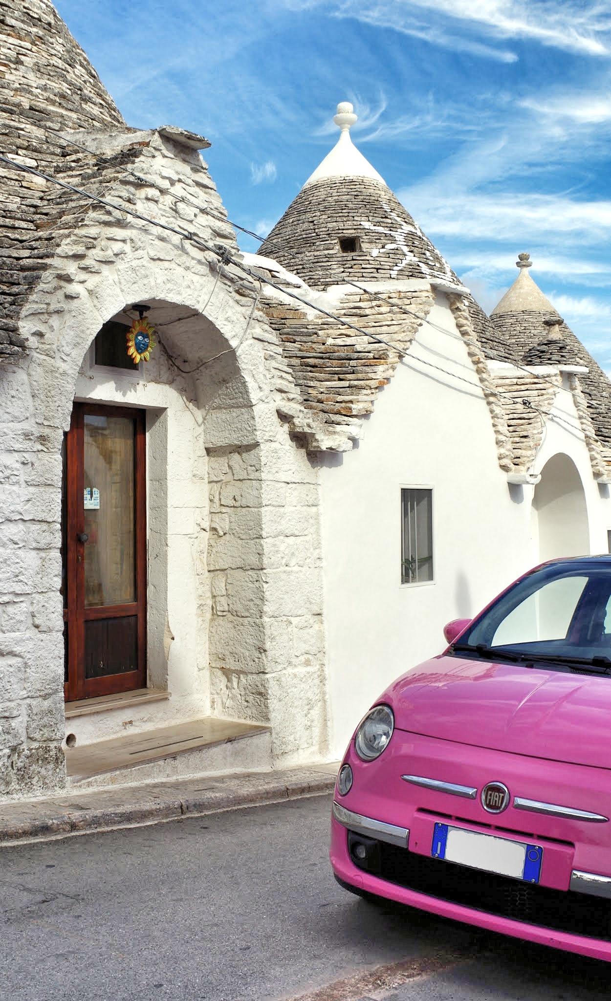 Fiat 500 in Alberobello