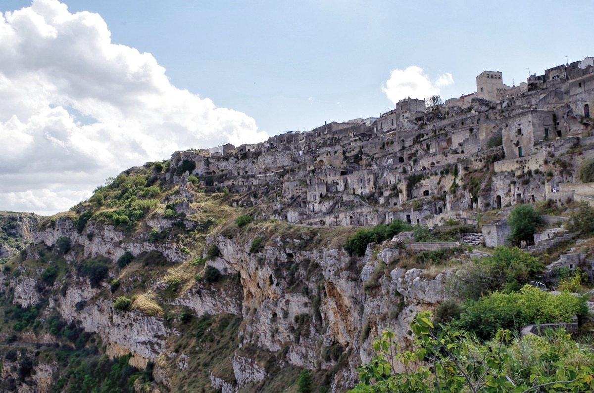 Höhlensiedlungen in Matera